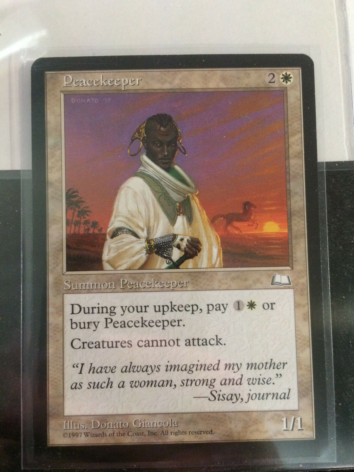 Peacekepper from Weatherlight Mint never played MTG Magic the the the Gathering 5f46a5