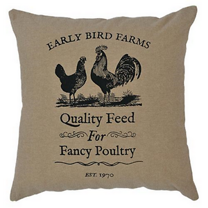 """""""FEED SACK"""" Toss Pillow Covers 10""""x 10""""(Set of 2) FARMHOUSE Country Primitive"""