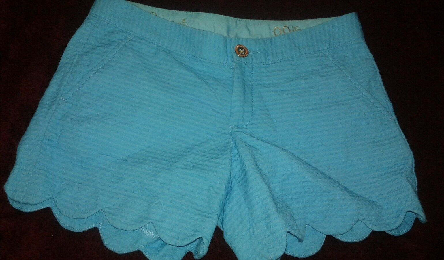 Lilly Pulitzer Pool bluee  Buttercup Shorts Sz 00 Hot