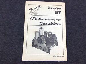 Alte-Werbung-Bauplan-2-Roehren-Allwellenempfaenger-Wechselstrom-Budich-Basteln-696