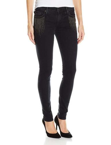True Super 25 Noir Størrelse Religion Nwt 889347525854 Women's Halle Jeans Black Skinny Beaded rt6rBSqw