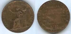 Monnaie-2-sols-MONNERON-1791-l-039-an-II-BORD-MARSEIL-LYON-ROUEN-NANT-ET-STRASB