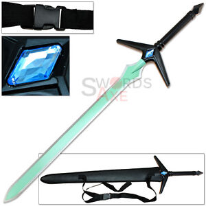 Details about Ninja Anime Sword Art Online Fantasy Longsword Turqoise Blade  w Quick Release