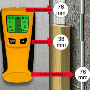 3in1 LCD Metal Detector Stud Center Scanner Finder Wall AC Live Cable Wire Test
