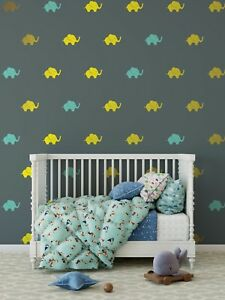 Details About Elephant Wall Decal Preppy Pattern S Nursery