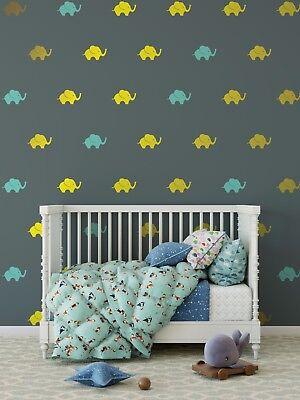 Elephant Wall Decal Preppy Pattern S Nursery Ebay