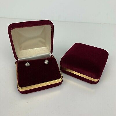 Brown Velvet Necklace Large Jewelry Gift Boxes JB33 Vintage Lot Quantity:12