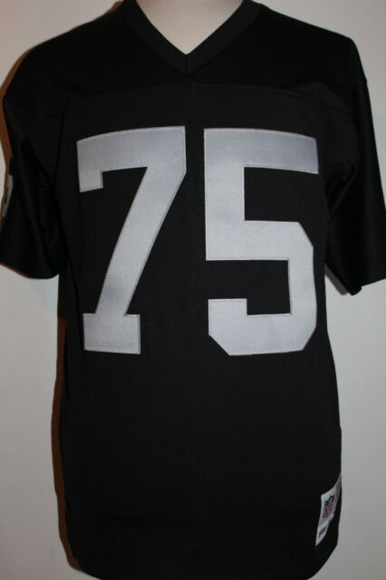 new arrivals 93182 e3048 Howie Long #75 Oakland Raiders Black Throwback Mitchell & Ness Mens Jersey
