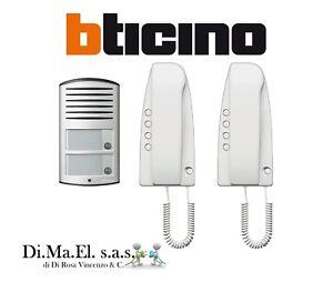 Kit Citofono Bticino.Dettagli Su Kit Citofonico Bticino 363221 Bifamiliare Pulsantiera Due Tasti Di Chiamata