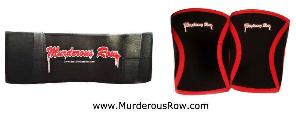 Murderous Row Dos Comas Set -  Bench Press Sling Shot + 7mm Neoprene Knee Sleeves  save 60% discount