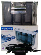 Hi fish aquarium SOBO 408h Slim Hang on external Power Filter fresh marine water