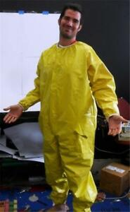 NEW NPO NUCLEAR RADIATION PROTECTION PROTECTIVE COVERALL SUIT VENTED ZIPPER XXL