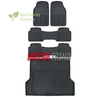 Odorless Hd Eco-free Rubber Floor Mats Van Suv Truck W/ Cargo Liner Black on sale