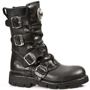 8a61e7fe NEWROCK New Rock M.1473 S1 Black Unisex Style Real Leather Biker ...