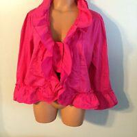 • Women's Keren Hart Size Large Button Down Shirt 3/4 Sleeve Stretch Top $60