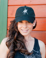 Cowgirls For A Cause dressage Baseball Cap Black/green
