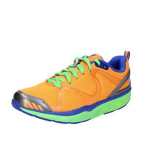 Chaussures-Hommes-MBT-42-UE-Baskets-Orange-Textile-Dynamic-bx893-42