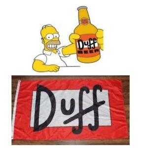 Duff Beer The Simpsons Flag 3x5 ft Banner Homer Bart Moe/'s Tavern Man-Cave Bar