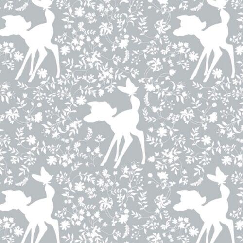Camelot Disney Bambi 85040105 3 Grey Bambi Silhouette BTY Cotton Fab
