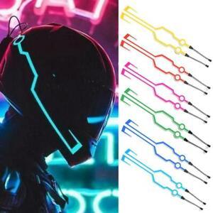 Casque-de-moto-Kit-d-039-eclairage-LED-Night-Riding-Flashing-Light-Stripe-Signal-B