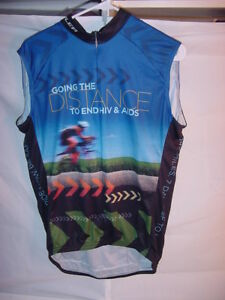Cycling Sleeveless Jersey Going The Distance To End HIV & AIDS 2010 Ride Large