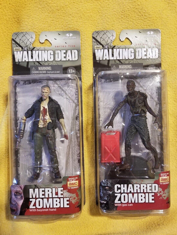 Zombie - serie 5 mcfarlane zombie - merle und verkohlten zombie - action - figuren