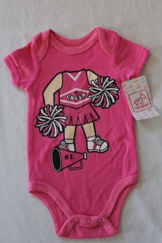 NEW Baby Girls 3-6 Months Bodysuit Creeper Outfit Infant One Piece Cheerleader