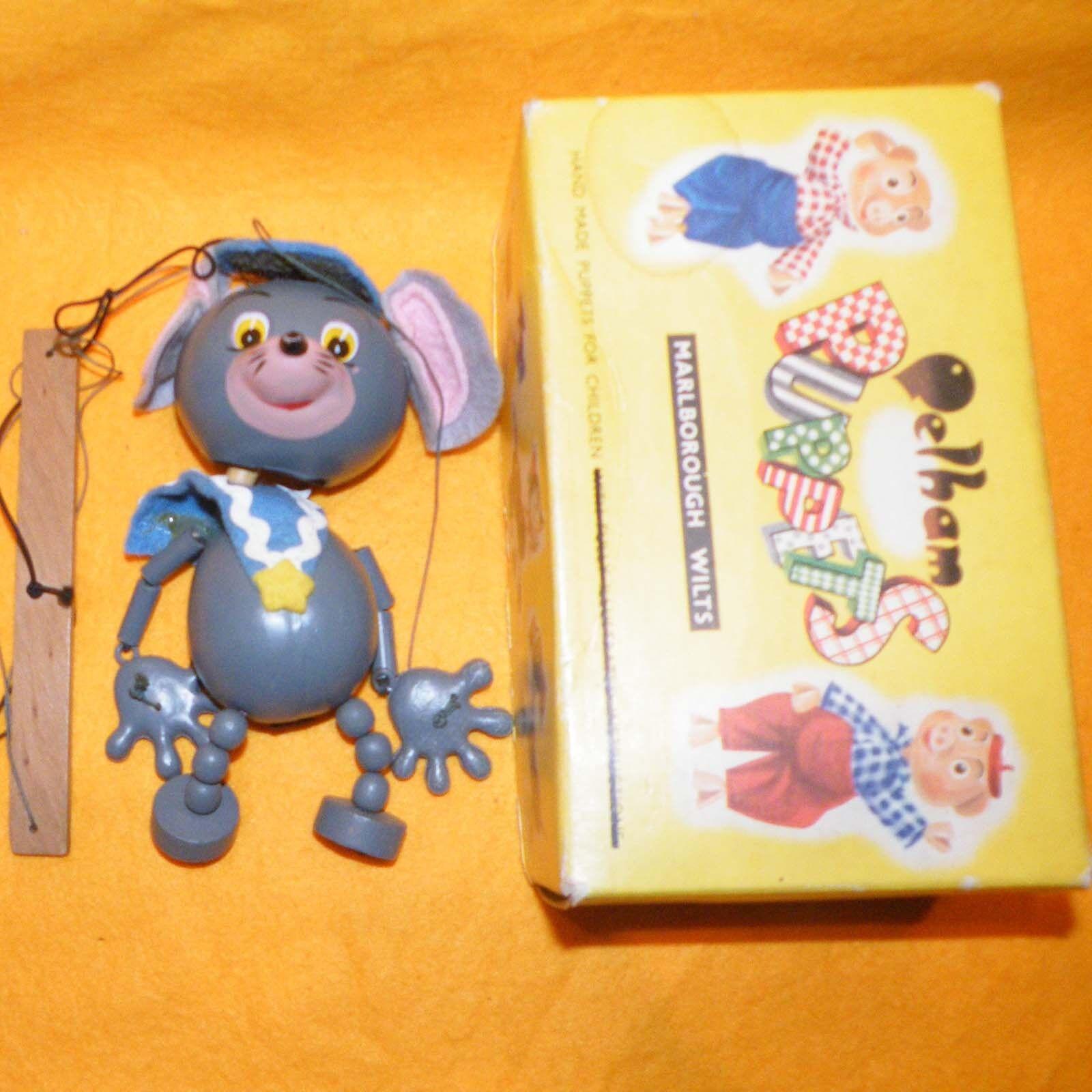 Vintage Pelham Puppets Mouse A9 (animal) jumpette En Caja