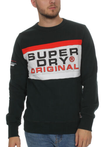 Trophy uomini Crew Superdry Green Highland Sweater PTwEExS