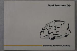 Opel-Frontera-A-Bedienungsanleitung-034-1997-034-Betriebsanleitung-Handbuch