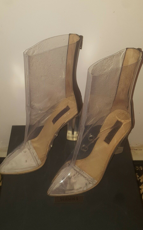 Descuento de liquidación Yeezy Season 3 Pvc Ankle Boots Pvc Clear