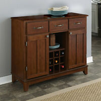 Cherry Wood Top Buffet Sideboard Storage Cabinet Home Dining Kitchen Furniture