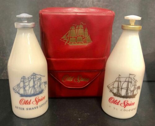 Vintage After Shave & Cologne OLD SPICE by SHULTON,30&30cc, Unused, in gift pack  Lntnt MEJ6m