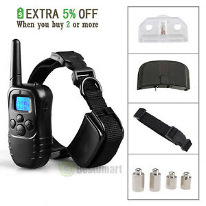 300-Yard-LCD-100LV-Level-Shock-Vibra-Remote-Pet-Dog-Training-Collar-Waterproof