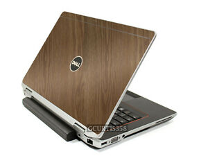 WOOD-Vinyl-Lid-Skin-Cover-Decal-fits-Dell-Latitude-E6420-Laptop