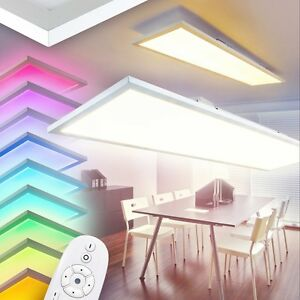 Pannello-LED-Ufficio-RGB-Telecomando-Lampada-Soffitto-Salotto-cambia-colore-41W