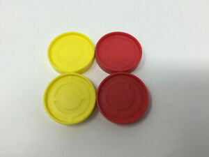 Hasbro-2013-Connect-Four-4-SPARES-REPLACEMENT-Counters-2-Yellow-2-Red