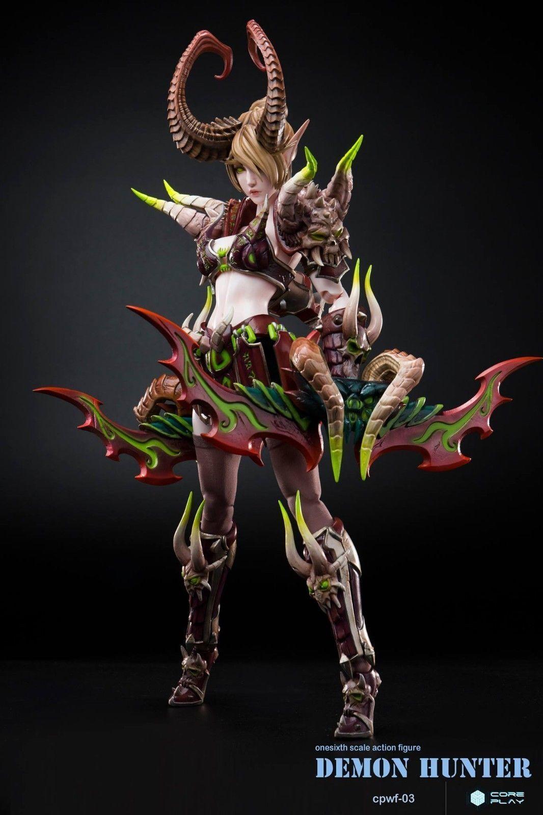 1 6 Scale Anime Coreplay Coreplay Coreplay Demon Hunter Female Action Figure Box Set CPWF-03 658beb