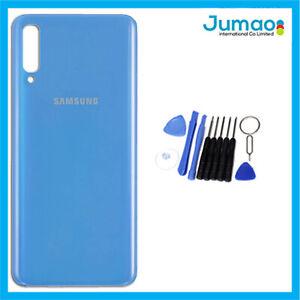 Vitre-arriere-capot-cache-batterie-Bleu-avec-Adhesif-Pour-Samsung-Galaxy-A70