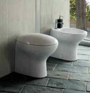 Sanitari bagno da appoggio filo muro pozzi ginori serie egg con wc bidet sedile ebay - Sanitari bagno filo muro ...