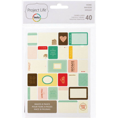 Project Life HOME 40-PACK Themed Cards scrapbooking 97712