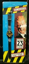 Vintage 1986 Max Headroom SEALED Digital Watch Sm Black Red Striped Lot C4-4