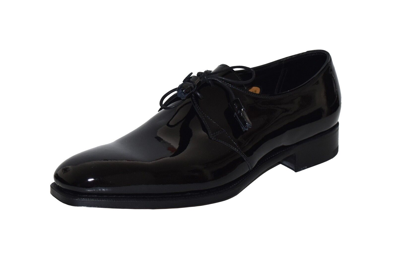 Ralph Lauren Purple Label Edward Green Patent Leather Paden Oxfords New $1350 Scarpe classiche da uomo