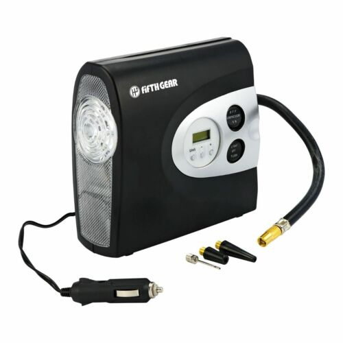 Digital Portable 12v 150psi Air Compressor with SOS Light Tyre Football Inflator