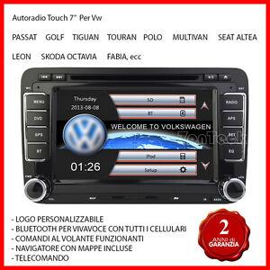 AUTORADIO-Gps-Navigatore-SEAT-ALTEA-LEON-VW-GOLF-5-6-PASSAT-POLO-TIGUAN-SCIROCCO