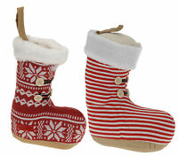 Large Christmas Doorstop Boot Christmas Decoration Doorstop Boot Red or Grey