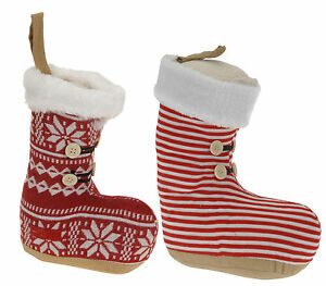 Small-Christmas-Doorstop-Boot-Christmas-Decoration-Doorstop-Boot-Red-or-Grey