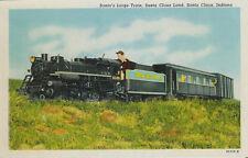 Old Postcard - Santa's Large Train - Santa Claus Land - Santa Claus Indiana
