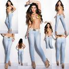sexy nuovo da donna CLUB BLU ADERENTE GAMBA Jeans pantaloni taglia 6 8 10 12 14
