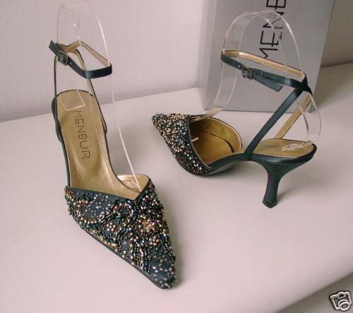 negozio d'offerta MENBUR Sera Scarpa Décolleté Mule Mule Mule verde scuro coloreato tg 36 scarpa sera  negozio di vendita outlet